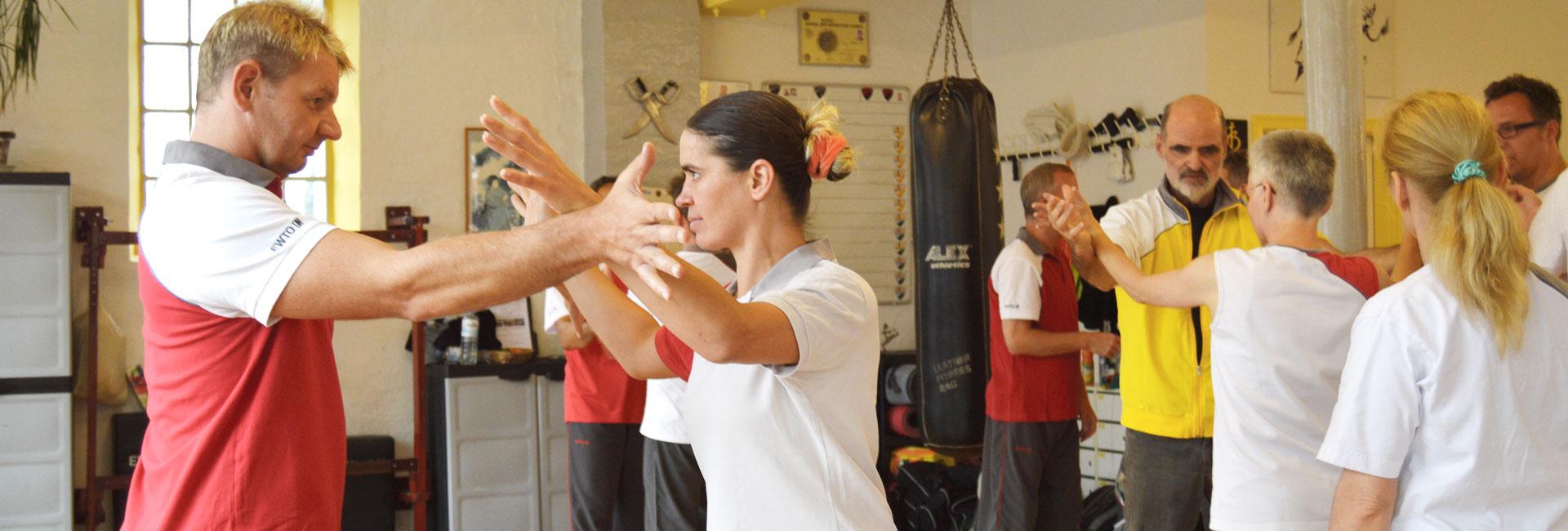 Lehrgang der chinesischen Kampfkunst WingTsun mit Großmeister Keith R. Kernspecht in Hamburg